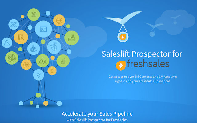 Saleslift Prospector for Freshsales: Never leave Freshsales for any data you need